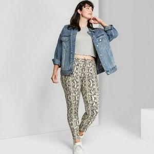 Wild Fable Animal Print High Rise Skinny Jeans
